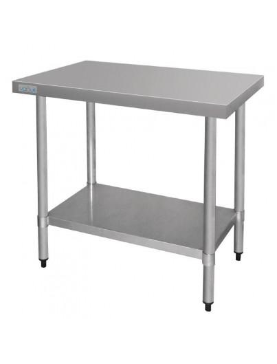 TABLES EN ACIER INOXYDABLE SANS REBORD