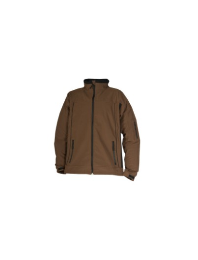 VESTE SOLFSHELL CRAFT WORKER MARRON /  NOIR