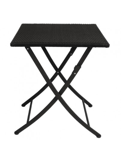 TABLES CARRES ROTIN