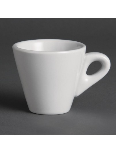 TASSE A EXPRESSO CONIQUE BLANCHE le lot de 12