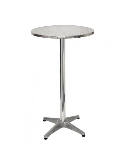 TABLE HAUTE EN ALUMINIUM