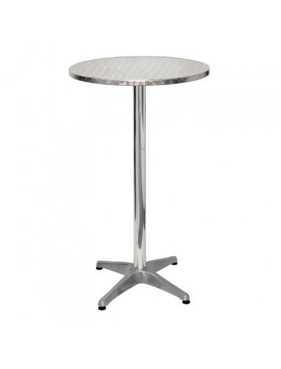 TABLE HAUTE EN ALUMINIUM
