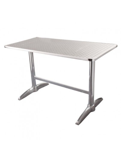 TABLE BISTRO EN ACIER INOXYDABLE