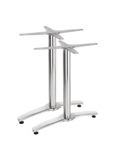 PIED DE TABLE DOUBLE EN ALUMINIUM