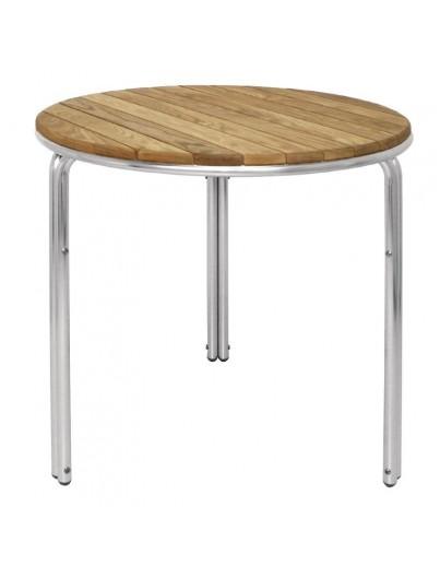 TABLE EN FRÊNE ET ALUMINIUM