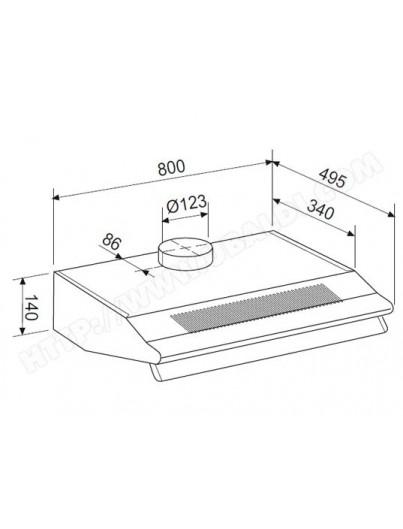 hotte casquette a charbon toutequip direct. Black Bedroom Furniture Sets. Home Design Ideas