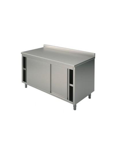 TABLE ARMOIRE AVEC DOSSERET + PORTE COULISSANTES PROFONDEUR 60CM