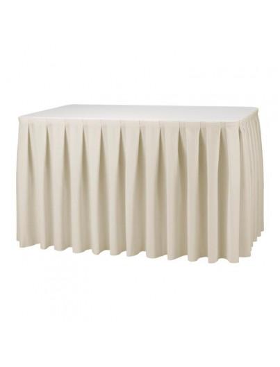 Nappe et jupe de table  - plissé