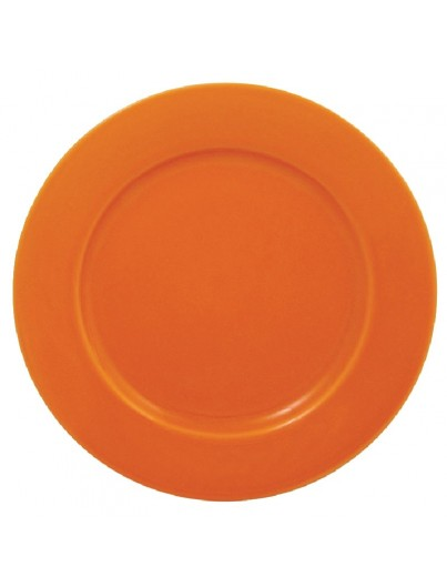 ASSIETTE A BORD LARGE ORANGE les 12