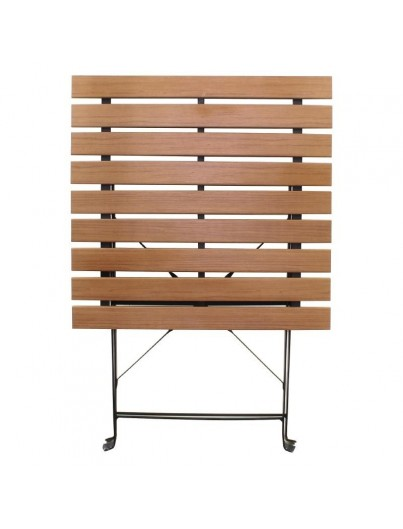 TABLE BISTRO RONDE OU CARRÉE EN IMITATION BOIS 60cm