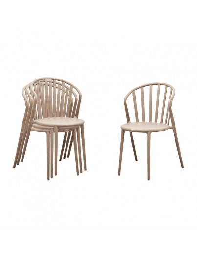 CHAISES EMPILABLES A BARREAUX le lot de 4
