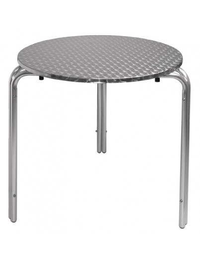 TABLES BISTRO RONDES EN INOX EMPILABLES 600mm