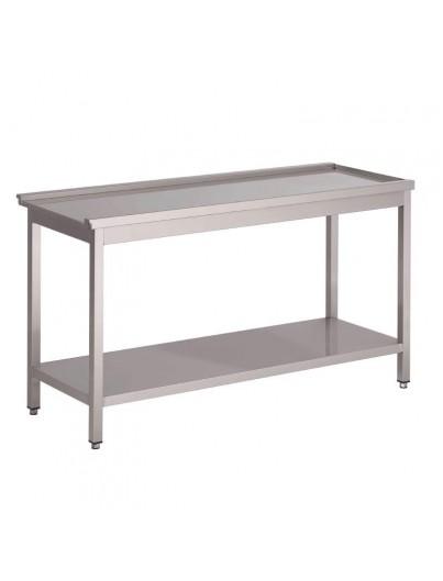 TABLES D 'ENTRÉE ET DE SORTIE LAVE VAISSELLE A CAPOT