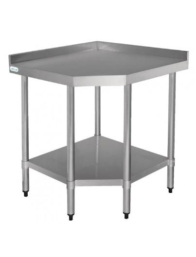 TABLE D'ANGLE EN ACIER INOX