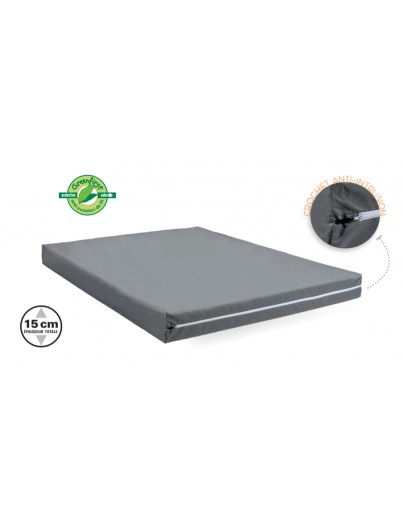 MATELAS THIRIEZ MOUSSE COLLECTIVITES 190(L) x 15(H)cm